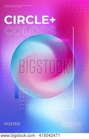 Blurred Gradient Poster Design. Party Flyer With Trendy Vibrant Fluid Colors. Fluid Neon Color Cover