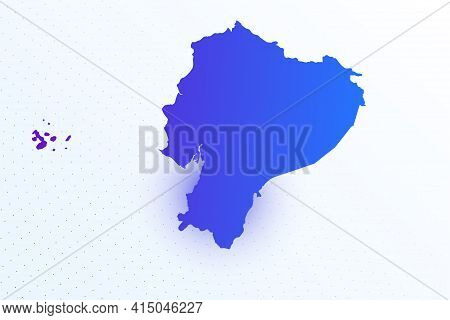 Map Icon Of Ecuador. Colorful Gradient Map On Light Background. Modern Digital Graphic Design. Light