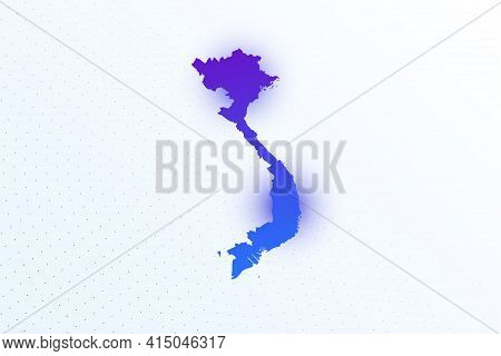 Map Icon Of Vietnam. Colorful Gradient Map On Light Background. Modern Digital Graphic Design. Light
