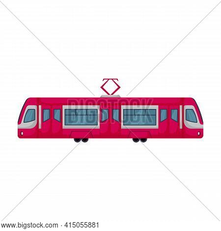 Tram Vector Icon.cartoon Vector Icon Isolated On White Background Tram.