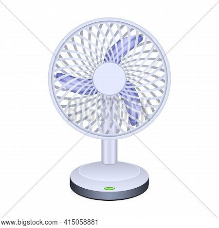 Fan Vector Icon.realistic Vector Icon Isolated On White Background Fan.