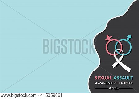 Vector Illustration Of Sexual Assault Awareness And Prevention Month Observed In April Every Year