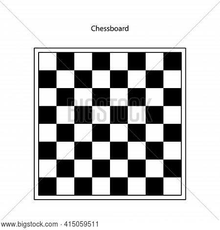 Chessboard Or Checkerboard Isolated Flat Vector Icon. Chessboard Isolated Set