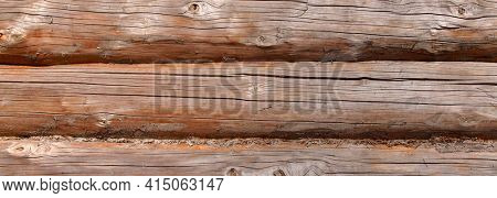 Wall of the old wooden house