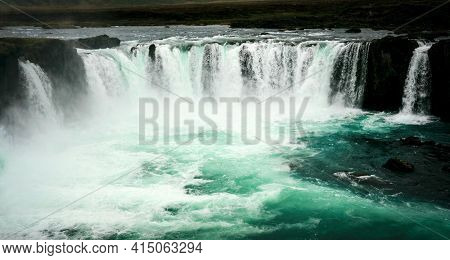 The Godafoss Icelandic: Goðafoss  waterfall of the gods, is a famous waterfall in Iceland.
