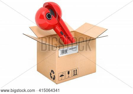 Hair Curler, Professional Automatic Steam Ceramic Curling Wand Inside Cardboard Box, Delivery Concep