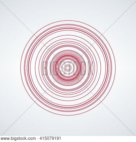Concentric Circle Elements Backgrounds. Abstract Circle. Black And White Graphics. Vector Illustrati