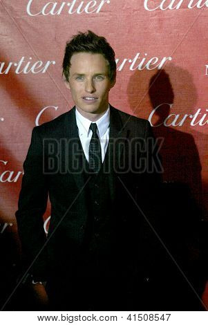PALM SPRINGS, CA - JAN 5: Eddie Redmayne arrives at the 2013 Palm Springs International Film Festival's Awards Gala at the Palm Springs Convention Center on January 5, 2013 in Palm Springs, CA.