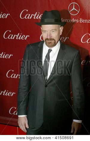 PALM SPRINGS, CA - JAN 5: Bryan Cranston arrives at the 2013 Palm Springs International Film Festival's Awards Gala at the Palm Springs Convention Center on January 5, 2013 in Palm Springs, CA.