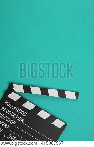 Clapperboard Flat Lay. High Quality And Resolution Beautiful Photo Concept