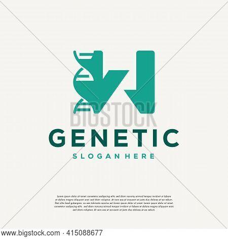 Dna Helix Letter W Logo Designs, Genetics Vector Design, Chromosome Initial Logo Template
