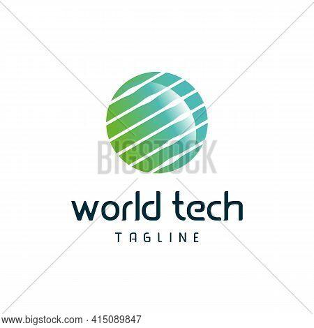 World Tech Logo Designs Concept Vector, Globe Logo Template Symbol