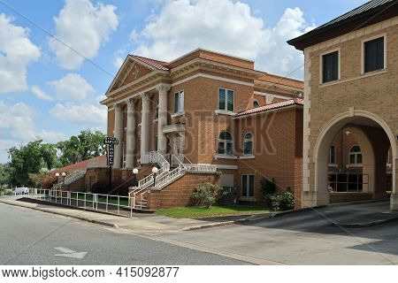 First Baptist Church In Historic Downtown Lake City, Florida.