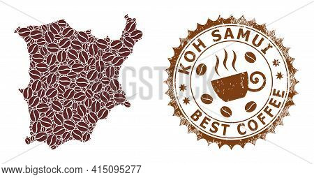 Mosaic Map Of Koh Samui From Coffee And Scratched Award For Best Coffee