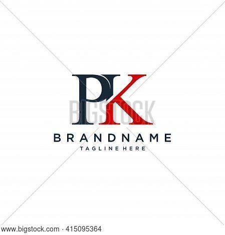 Pk Logo. Company Logo. Monogram Design. Letters P And K.