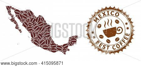 Mosaic Map Of Mexico From Coffee And Grunge Award For Best Coffee