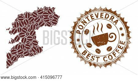 Mosaic Map Of Pontevedra Province Of Coffee And Distress Award For Best Coffee