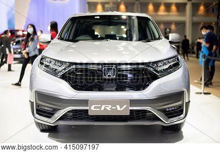 Nonthaburi, Thailand - March 25,2021 : View Of Honda Cr-v Car On Display At Thailand International M