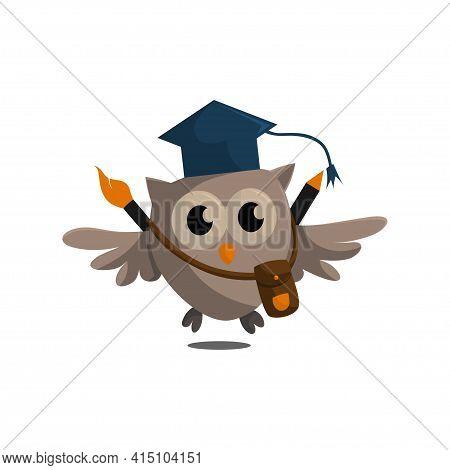 Owl Bird Template Design Smart Education With Owl Symbol