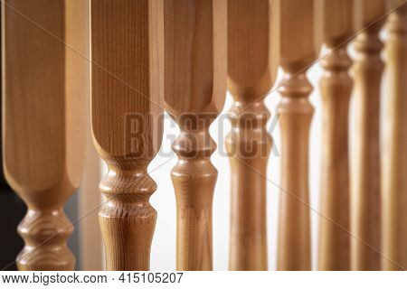 Wooden Baluster Close-up