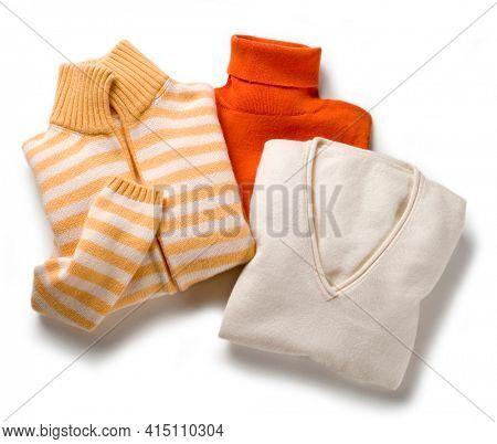 Three luxury woolen cashmere pullover