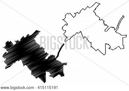 College Station City, Texas (united States Cities, United States Of America, Usa City) Map Vector Il