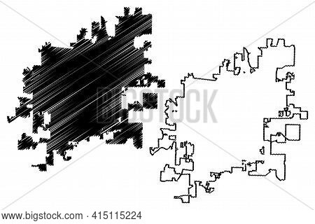 Columbia City, Missouri (united States Cities, United States Of America, Usa City) Map Vector Illust
