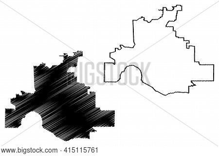 Evansville City, Indiana (united States Cities, United States Of America, Usa City) Map Vector Illus