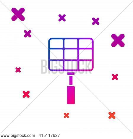 Blue Barbecue Steel Grid Icon Isolated On White Background. Top View Of Bbq Grill. Wire Rack For Bbq