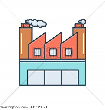 Color Illustration Icon For Industrial  Manufacturing  Manufacture