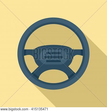 New Steering Wheel Icon. Flat Illustration Of New Steering Wheel Vector Icon For Web Design