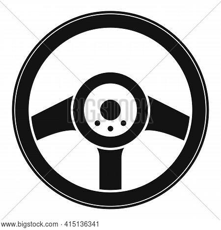 Driver Steering Wheel Icon. Simple Illustration Of Driver Steering Wheel Vector Icon For Web Design