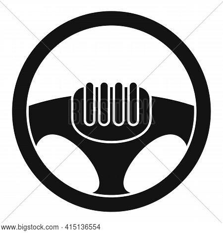 Drive Steering Wheel Icon. Simple Illustration Of Drive Steering Wheel Vector Icon For Web Design Is