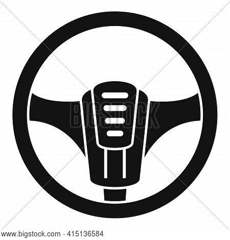 New Steering Wheel Icon. Simple Illustration Of New Steering Wheel Vector Icon For Web Design Isolat