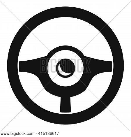 Steering Wheel Equipment Icon. Simple Illustration Of Steering Wheel Equipment Vector Icon For Web D