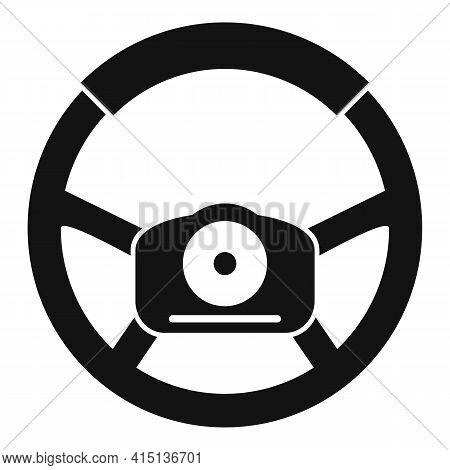 Handle Steering Wheel Icon. Simple Illustration Of Handle Steering Wheel Vector Icon For Web Design