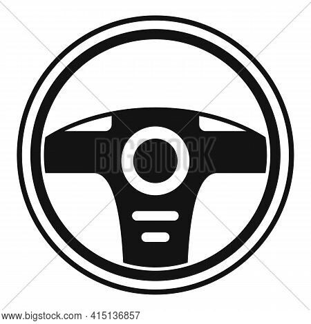 Button Steering Wheel Icon. Simple Illustration Of Button Steering Wheel Vector Icon For Web Design