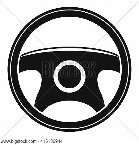 Metal Steering Wheel Icon. Simple Illustration Of Metal Steering Wheel Vector Icon For Web Design Is