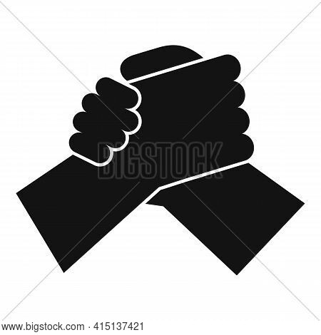 Arm Wrestling Hands Icon. Simple Illustration Of Arm Wrestling Hands Vector Icon For Web Design Isol