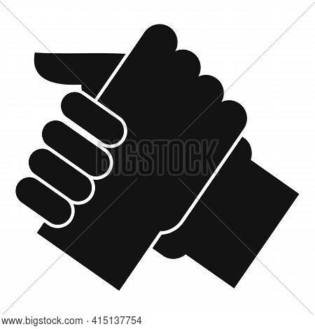 Arm Wrestling Partner Icon. Simple Illustration Of Arm Wrestling Partner Vector Icon For Web Design