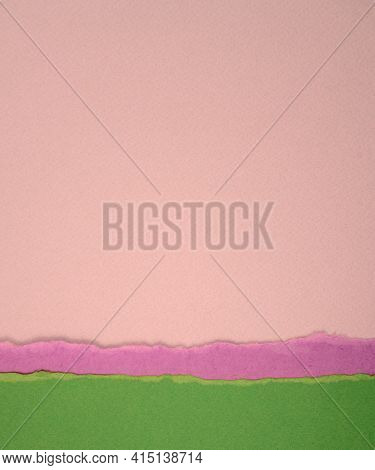 Paper Abstract Texture Background. Blank Matte Torn Green, Purple, Neutral, Pink Pastel, Earth Tone