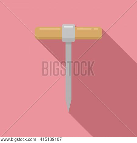 Carpenter Awl Icon. Flat Illustration Of Carpenter Awl Vector Icon For Web Design