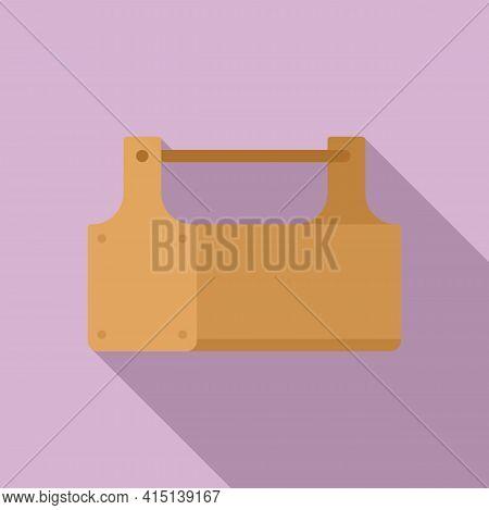 Carpenter Wood Box Icon. Flat Illustration Of Carpenter Wood Box Vector Icon For Web Design
