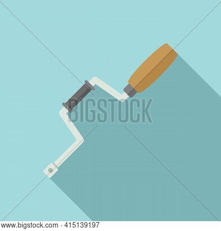 Carpenter Brace Icon. Flat Illustration Of Carpenter Brace Vector Icon For Web Design