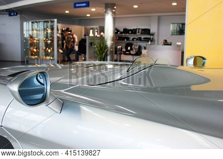 Kiev, Ukraine - August 21, 2011: Luxury Gray Supercar Mercedes-benz Slr Mclaren Stirling Moss