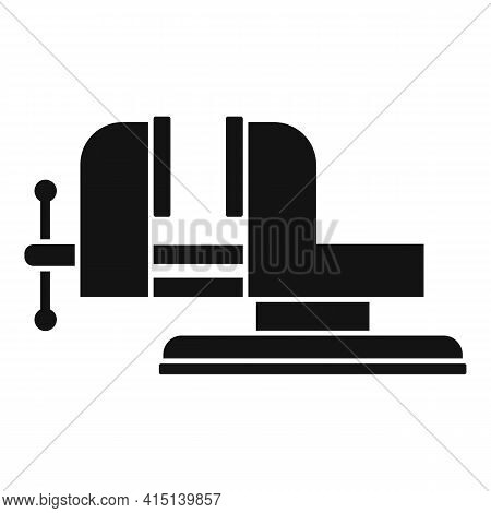 Carpenter Vise Icon. Simple Illustration Of Carpenter Vise Vector Icon For Web Design Isolated On Wh