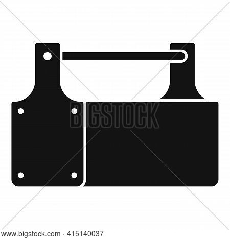 Carpenter Wood Box Icon. Simple Illustration Of Carpenter Wood Box Vector Icon For Web Design Isolat
