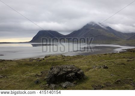 Iceland - August 29, 2017: Scenery And Coast Along The Ring Road, Iceland, Europe