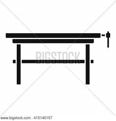 Carpenter Work Table Icon. Simple Illustration Of Carpenter Work Table Vector Icon For Web Design Is