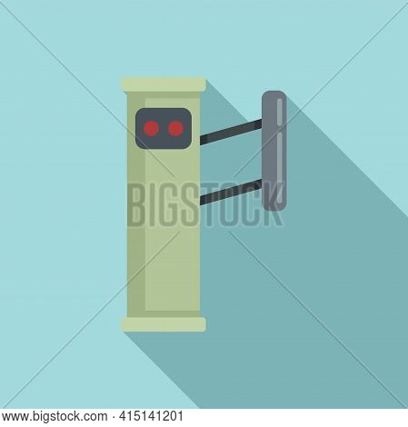 Entrance Turnstile Icon. Flat Illustration Of Entrance Turnstile Vector Icon For Web Design